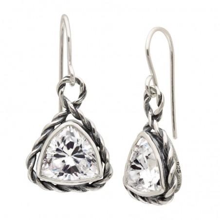 Wonderful Clear Quartz Gemstone Dangle Earrings