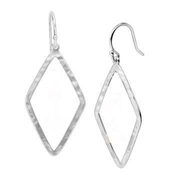 Beautiful Hammered Plain Dangle Earrings