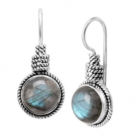 Elegant style Labradorite Gemstone Dangle Earrings