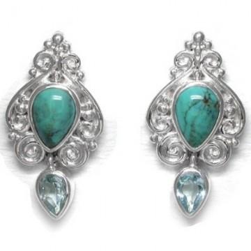 Best Quality Turquoise & Blue Topaz Gemstone Cabochon...