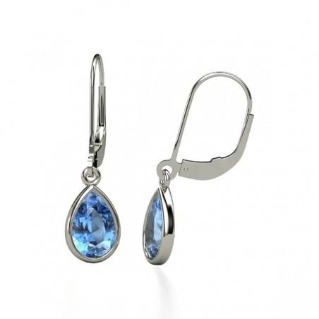 Amazing design Blue Topaz Gemstone Dangle Drop Earrings