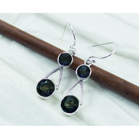 Handmade Mystic Topaz Gemstone Dangle Drop Earrings