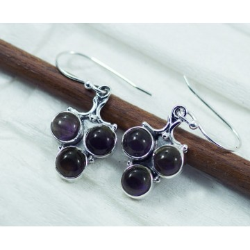 Beautiful Amethyst Gemstone Dangle Drop Earrings