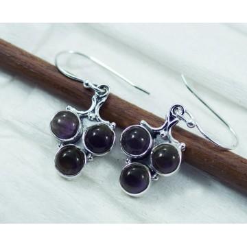 Beautiful Amethyst Gemstone Dangle Drop Earrings