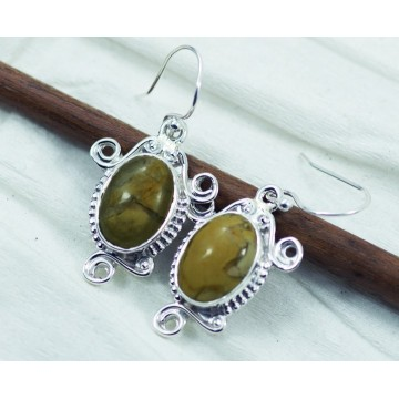 Elegant style Jasper Gemstone Dangle Drop Earrings