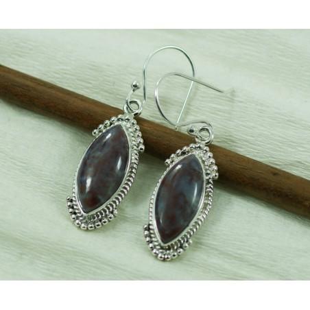 Handcrafted Jasper Gemstone Dangle Drop Earrings