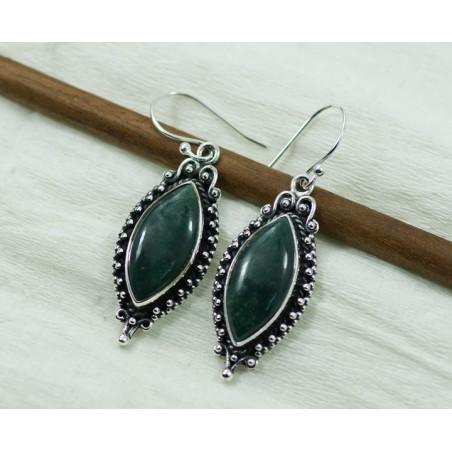Amazing design Green Jasper Gemstone Dangle Drop Earrings