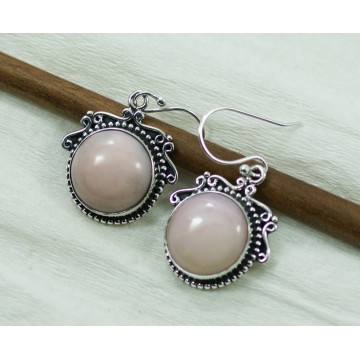 Beautiful Pink Opal  Gemstone Dangle Drop Earrings