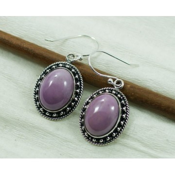 Artisan Crafted Phosphorite  Gemstone Dangle Drop Earrings