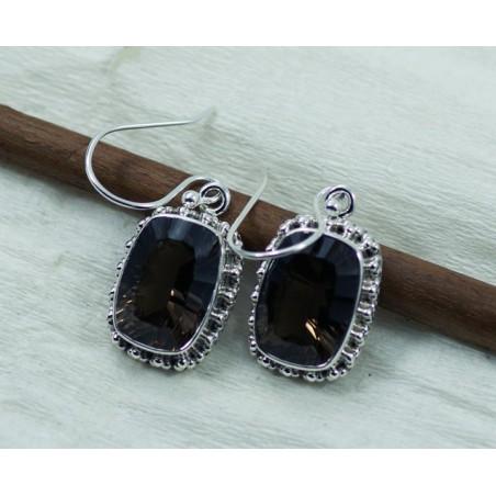 Beautiful Smokey Quartz Gemstone Dangle Drop Earrings