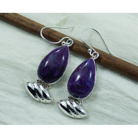 Amazing design Sugilite Gemstone Dangle Drop Earrings