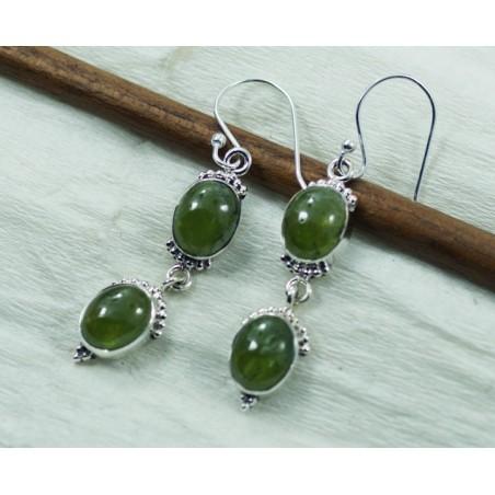 Elegant style Prenite Gemstone Dangle Drop Earrings