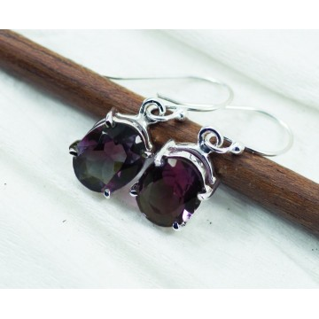 Exclusive Amethyst Gemstone Dangle Drop Earrings