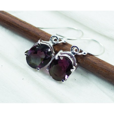 Exclusive Amethyst Gemstone Dangle Drop Earrings