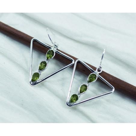Beautiful Peridot Gemstone Dangle Drop Earrings