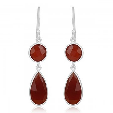 Wonderful Caroline Gemstone Dangle Drop Earrings
