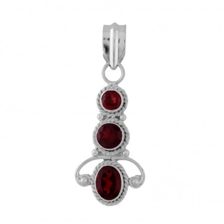 Beautiful Handmade Garnet Faceted Gemstone Pendants