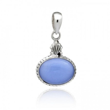 Amazing design Blue Chalcedony Cabochon Gemstone Pendants