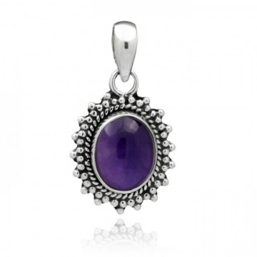 Beautiful Handmade Amethyst Cabochon Gemstone Pendants