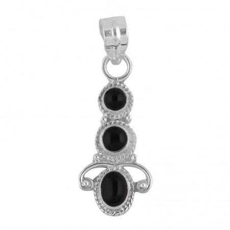 Designer Handmade Black Onyx Cabochon Gemstone Pendants