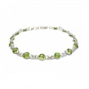 Designer Handmade Peridot Gemstone Bazel Bracelets