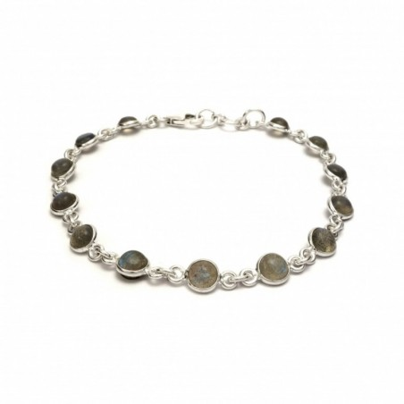 Beautiful Labradorite Gemstone Bazel Bracelets