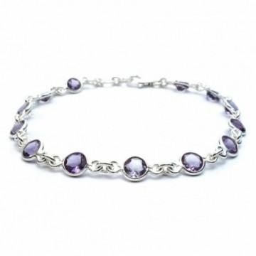Elegant style Peridot Gemstone Bazel Bracelets