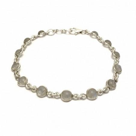 Elegant style Rainbow Moonstone Gemstone Bazel Bracelets