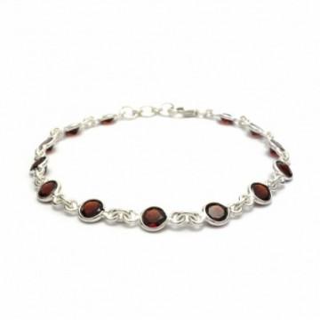 Designer Handmade Garnet Gemstone Bazel Bracelets