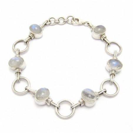 Handcrafted Rainbow Moonstone Gemstone Bracelets