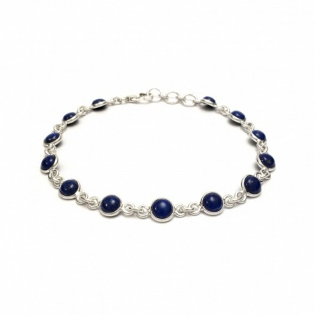 Designer Handmade Lapis Lazuli Gemstone Bazel Bracelets