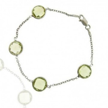 Artisan Crafted Lemon Quartz Gemstone Bazel Bracelets