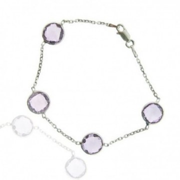 Artisan Crafted Amethyst Gemstone Bazel Bracelets