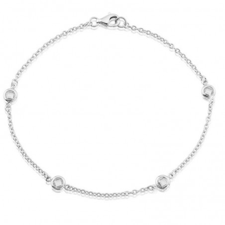 Artisan Crafted Clear Quartz Gemstone Bazel Bracelets