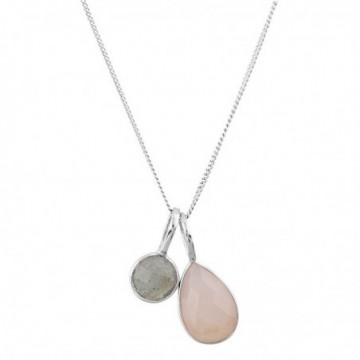 Beautiful Labradorite & Rose Quartz Gemstone Necklace