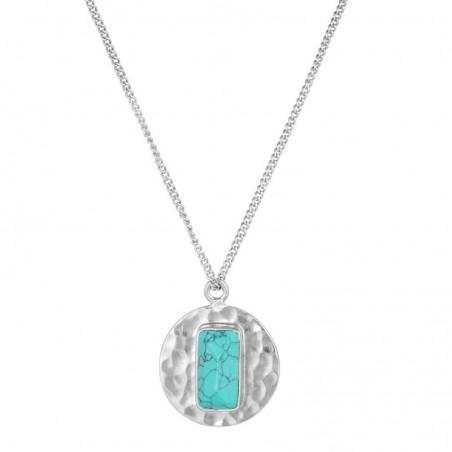 Elegant style Hammered Turquoise Gemstone Necklace
