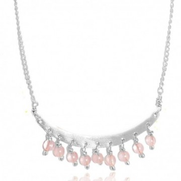 Designer Handmade Rose Quartz Beads Necklaces