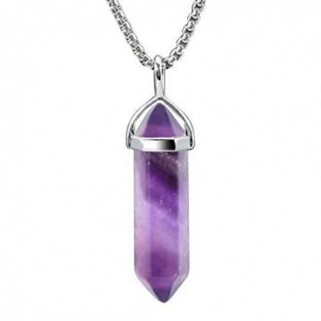 Elegant style Amethyst Gemstone Healing Necklace