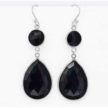 Wonderful Black Onyx Gemstone Dangle Drop Earrings
