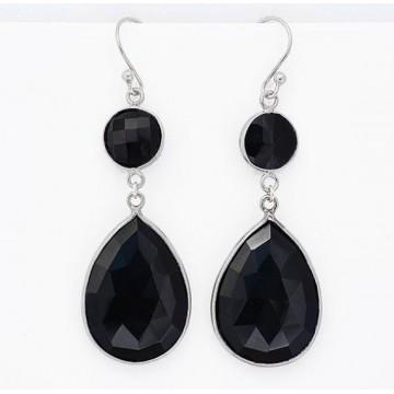 Wonderful Black Onyx Gemstone Dangle Drop Earrings