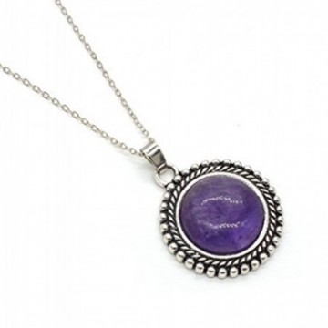 Artisan Crafted Amethyst Gemstone Necklace