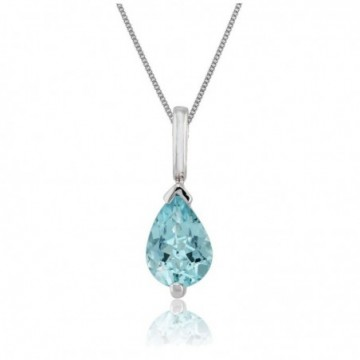 Elegant style Blue Topaz Gemstone Necklace