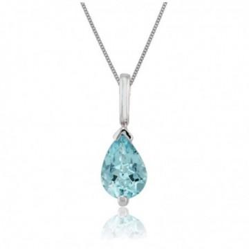 Elegant style Blue Topaz Gemstone Necklace