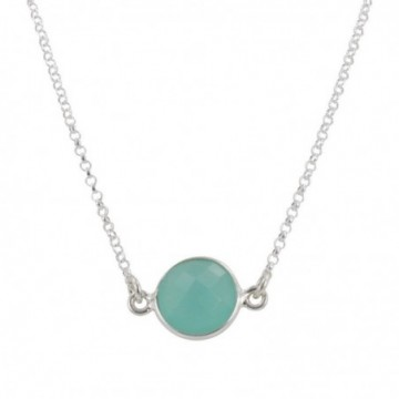 Wonderful Aqua Chalcedony Gemstone Necklace