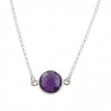 Handcrafted Amethyst Gemstone Necklace