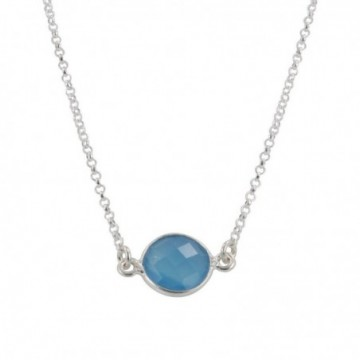 Wonderful Blue Chalcedony Gemstone Necklace