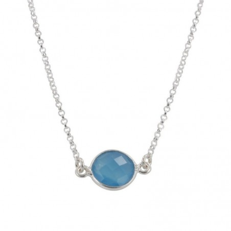 Wonderful Blue Chalcedony Gemstone Necklace