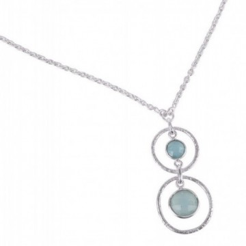 Wonderful Aqua Chalcedony Gemstone Necklace