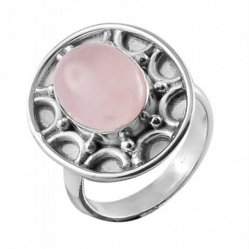 Beautiful Handmade Rose Quartz Gemstone Rings