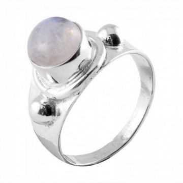 Artisan Crafted Rainbow Moonstone Gemstone Rings